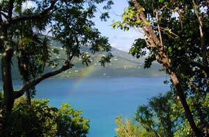 Picture of rainbow taken on St. Thomas, U.S. Virgin Islands.